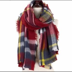 Accessories - Brushed Plaid Scarf